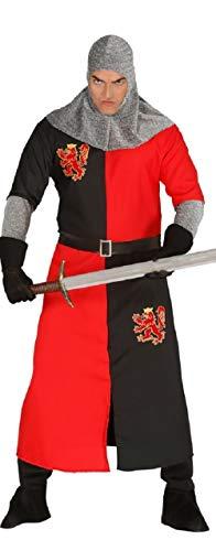 Fancy Me Herren Dark Age Ritter mittelalterlicher Kreuzritter historisch Held Kostüm Kleid Kostüm Schuhe groß - Schwarz, L (Dark Age Kostüm)