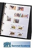10 x SAFE 551 BRIEFMARKEN EINSTECK ERGÄNZUNGSBLÄTTER IM DIN A6 FORMAT ---- FÜR DAS SAFE 550 Ringalbum Briefmarkenalbum / Taschen Einsteckbuch Einsteckbücher DIN A5