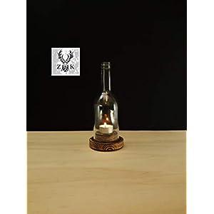Wein Windlicht # 1 Rustikal kurze Flasche