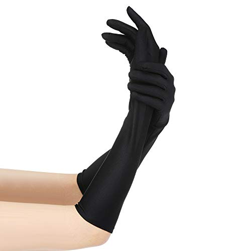 TEBAISE lange Satinhandschuhe Abendhandschuhe Handschuhe Party ()