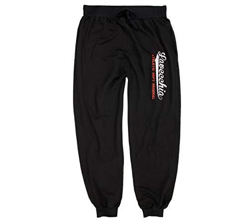 Lavecchia ÜBERGRÖßEN Herren Jogginghose Sporthose Black-RED-White 3XL bis 8XL 2020 (5XL, Black-Red-White)
