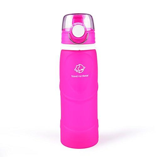 Image of Travel Hardwear Silikon Trinkflasche 750ml - Faltbare Outdoor Flasche mit Schutzkappe Ideal für Sport, Wandern, Radfahren, Reisen, Picknick - BPA Frei, FDA LFGB, Tragbare Wasserflasche, Sportflasche