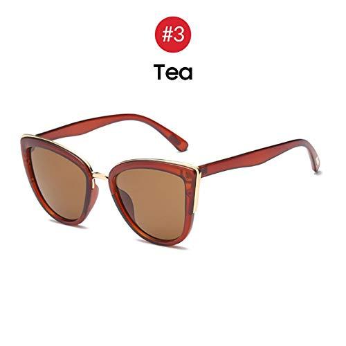 MJDABAOFA Sonnenbrillen,Meine Damen Retro Big Cat Eye Sonnenbrille Trend Farbverlauf Braun Rahmen Braun Getönten Sonnenbrille Mode Cateye Elegante Farbtöne Für Frauen