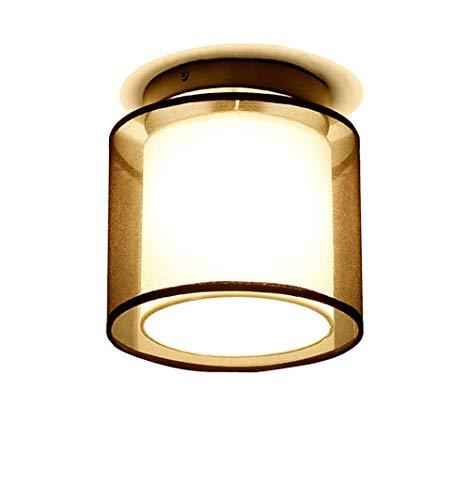 Satin-matt-nickel (XHJJDJ Modern Modern Square Outdoor Deckenleuchte/Deckenleuchte 1 Stahl/Nickel Matt/Satin - Glas/Edelstahl Rechteck E27 Max , 1 x 60 Watt/Gartenbeleuchtung / Licht)