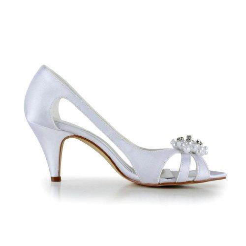 Jia Jia Wedding 5949414A chaussures de mariée mariage Escarpins pour femme Blanc