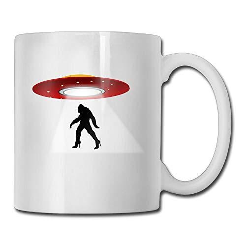 UFO Bigfood High Heel Custom Coffee Mug 11 Oz Mens Unique Ceramic Gifts Tea Cup (Bubba Travel Mug Big)
