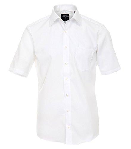Casamoda - Modern Fit - Bügelfreies Herren kurzarm Hemd in verschiedene Farben (008570) Blau (109)