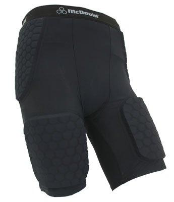 McDavid Hexpad Thudd Short with Dual Density Hexpad Thigh Pads (Black, XX-Large)