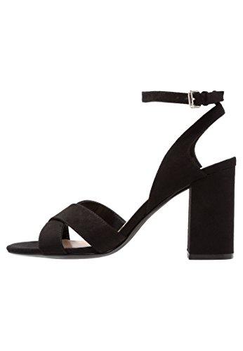 Even&odd sandali da donna con tacco alto e cinturino a caviglia, nero, 38