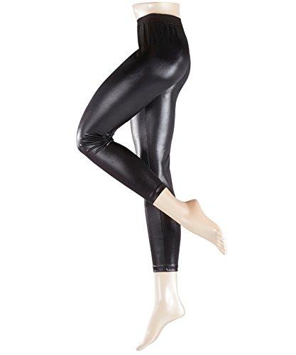 ESPRIT Damen Leggings Wet Look Schwarz (Black 3000)