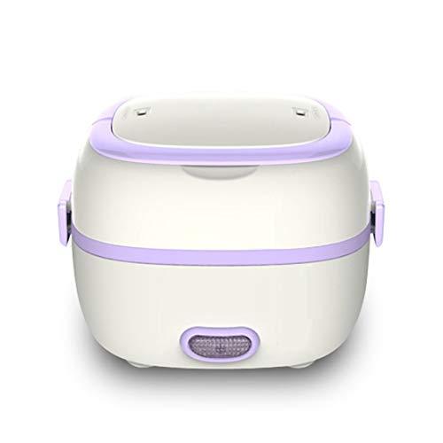 Calentador eléctrico multifuncional Caja de almuerzo Mini Olla arrocera Vapor portátil de alimentos Preservación del calor Caja de almuerzo electrónica-