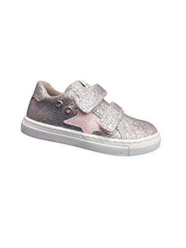 Sapatos Eb, Jovem Sneaker * Brilho Argento