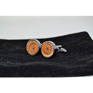 Holz Manschettenknöpfe Trachtenschmuck Eibe handmade Herren Schmuck Anzug Accessoire Eibenholz Geschenk made in Austria