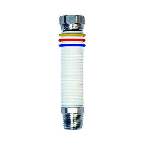 gaz eau de tuyau extensible en acier 1 '' 260/520 mm unisuper UNI 11353 DM 174 blanc