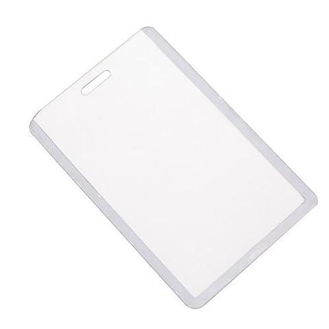 Sonline 10pcs Porte-badges ID Carte Vertical - Transparent