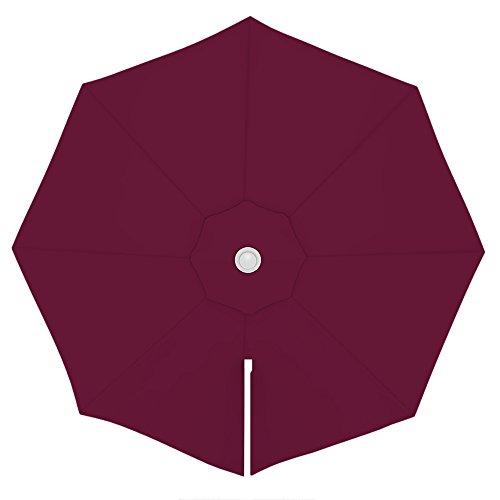 PARAMONDO Toile de rechange pour parasol avec Air Vent pour parasol à mât excentré Parapenda (3,5m / ronde), bordeaux