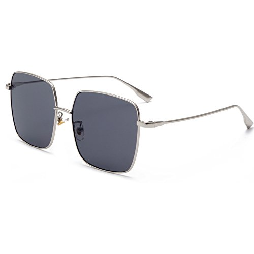 Sunglasses_2018 New Sunglasses Large Frame uv400 Metal Sunglasses