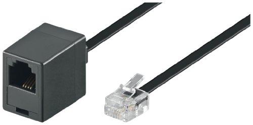 Preisvergleich Produktbild Wentronic Modular Verlängerungskabel (4-polig,  RJ11 Stecker auf RJ11 Kupplung) schwarz 6m