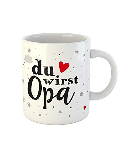 clothinx Kaffee-Tasse mit Aufdruck Geburt Du wirst Opa (Halloween-geschenkideen Für Enkelkinder)