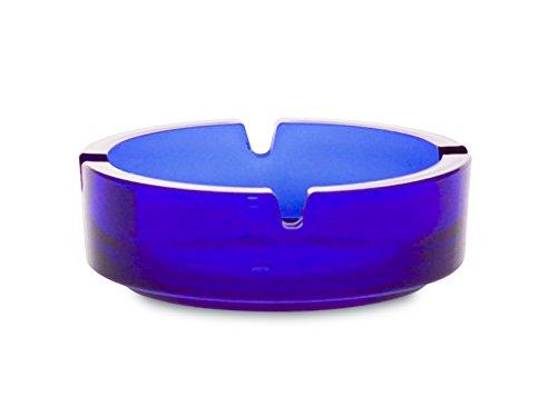 Borgonovo 6135111Dresda Aschenbecher aus Glas, 10,7cm, blau (Blaue Handtasche Französisch)