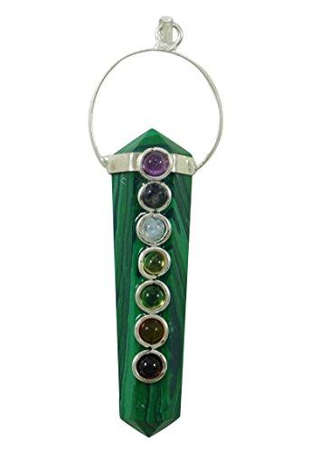 Harmonize Malachit Stein Bleistift einzigen Punkt reiki Stab 7 Chakra Anhänger Reiki Kristall Heilung spirituelle