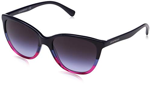 Emporio armani 0ea4110 56334q 55 occhiali da sole, blu (violet/blue/strawberry), donna