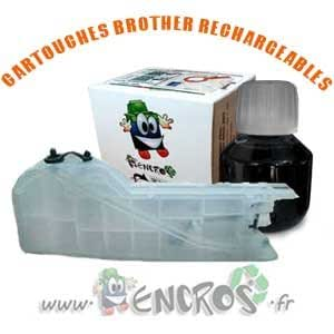 RECHARGEABLE-Cartouche Rechargeable CISS Brother LC123/LC127/LC129 noir