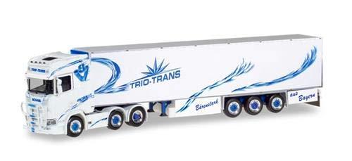 Herpa 309967 - Scania CS 20 Hochdach HD 6x2 Kühlkoffer-Sattelzug Trio-Trans - 1:87 -