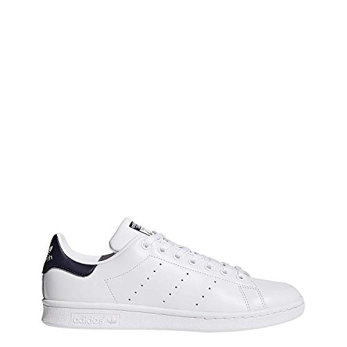 cheap for discount ddc8a aa4b5 Adidas Stan Smith, Scarpe da Ginnastica Basse Uomo, Bianco (Bianco Blu  scuro), 41 1 3 EU