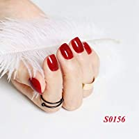 FARMERLY 2018 24pcs short paragraph new cute candy color hot buy fake fingernails complete 22 color Can choose: SN156