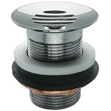 Lujo Diseño vástago Válvula Válvula de desagüe 5/4pulgadas sin rebosadero con colador Cromado muy alta calidad