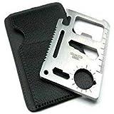 PROTOS INDIA. NET TK4454 Credit Card Knife Pocket Tool, Medium  Silver