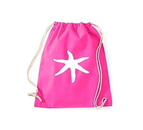 (ShirtInStyle Gym Sack Turnbeutel Kultsack Tiere Seestern Farbe pink)