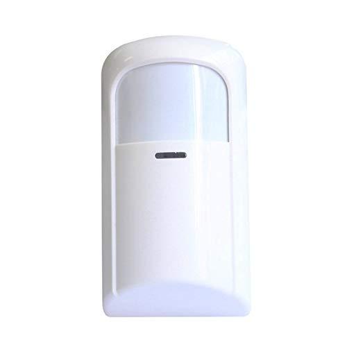 Detector Infrarrojo Pasivo Inalámbrico DC 433MHz Gran Angular PIR Sistemas de Alarma con Sensor de Movimiento Seguridad para el Hogar Alarma Contra Robos   Blanco