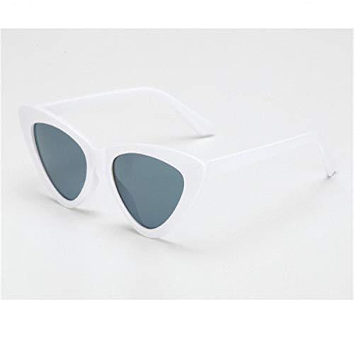 Sport-Sonnenbrillen, Vintage Sonnenbrillen, Small Cateye Triangle Cute Sexy Retro Cat Eye Sunglasses Women Black White Vintage Sun Glasses Oculos De Sol C11