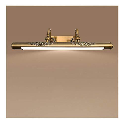BAIF Spiegelfrontlicht Badezimmerspiegelleuchten LED-Bilderlicht, Retro Verstellbare Badmöbel Anti-Fog Wandleuchte Gold [Energieklasse A +] (Größe: 60cm / 11w)