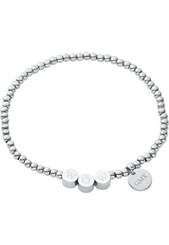 GMK Collection by CHRIST Damen-Armband Edelstahl One Size, silber (Leder Collection Damen)