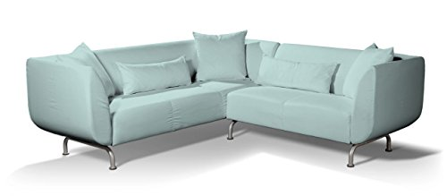Dekoria Strömstad 3+2 Sitzer Sofabezug Sofahusse Passend Für Ikea Modell  Strömstad Hellblau Strömstad