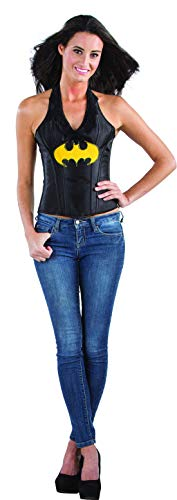 costumebakery - Damen Frauen Batgirl Kostüm mit Neckholder Corsage, perfekt für Karneval, Fasching und Fastnacht, M, Schwarz