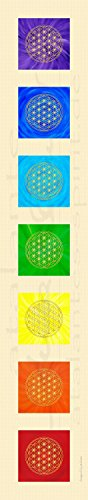atalantes spirit Blume des Lebens - Textil-Banner | Stoff-Poster | Energiebilder in 7 Chakrenfarben | Größe 25 x 145 cm | Hochformat