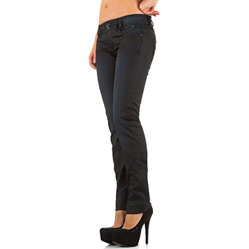 Damen Jeans, USED LOOK STRAIGHT LEG, KL-J-A1676 Grau