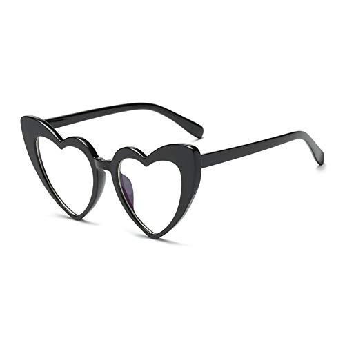 WZYMNTYJ Hot Fashion Heart Shaped Sonnenbrille Frauen Cat Eye Spiegel Reflektierende Sonnenbrille UV400 Mädchen