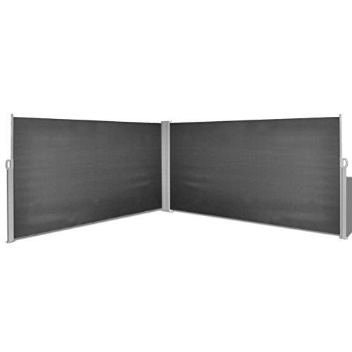 Zora Walter Seitenmarkise Einziehbar 160 x 600 cm schwarz Aufrollsystem Automatik Einfache Montage