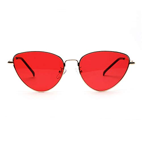 DYFDHA Sonnenbrillen Cute Sexy Cat Eye Sunglasses Women NEW Retro Small Black Red Pink Cateye Sun Glasses Female Vintage Shades For Women Red