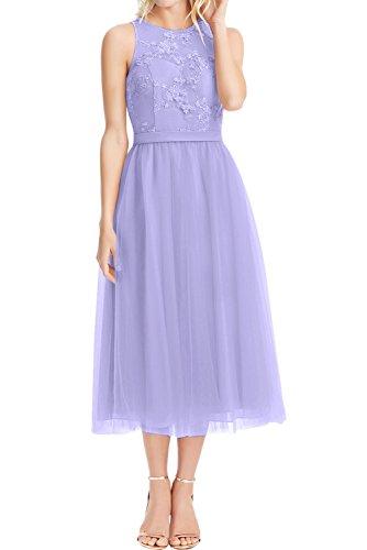Sunvary Chic Spitze Neu Cocktailkleid Tuell Abschlussballkleider Weiss Partykleider Abendkleider Lavender