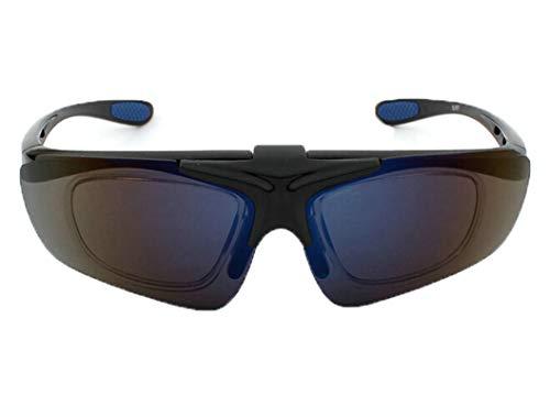 Anyeda Sportbrille Fahrradbrille Unisex TPU+PC Brille Snowboard Goggles Blaues Silber