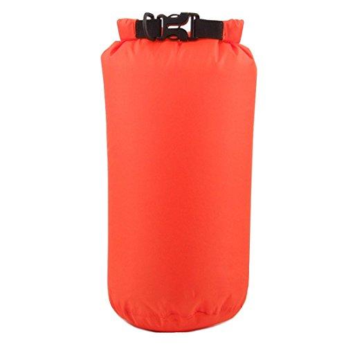 Wasserdicht Kompressions Packsack - LUCKSTONE 8L Wasserdicht Trocken Sack Lightweight Kompression Tasche fuer Bootfahren Kajak Rafting Kanu (Orange)