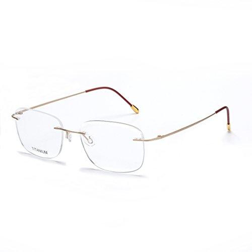 DUKEROY Herren Brillengestell gold matt, goldfarben 55-18-140 (Brillengestelle Für Männer Titan)
