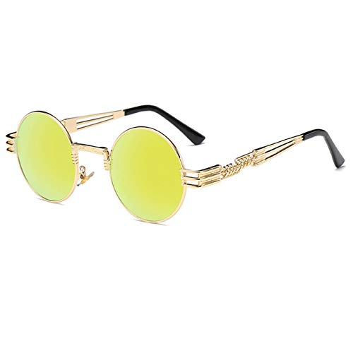 Daawqee Steampunk Sunglasses Luxury Men Round Sun