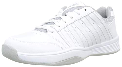 K-Swiss Performance Damen Court Smash Carpet M Tennisschuhe, Weiß (Wht/Wht/High-Rise, 7.5 000070594), 41.5 EU